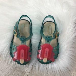 Mini Melissa Popsicle Jelly Shoes Sz. 7